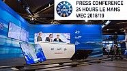The Press Conference for the 2018 24 Hours of Le Mans and WEC