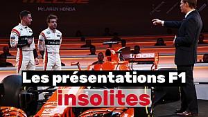 Les présentations les plus insolites de la F1