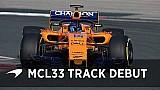 Der McLaren MCL33 auf der Strecke