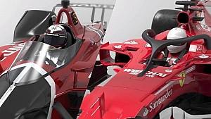Comparação halo da F1 x Aeroscreen da Indy