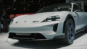 The Porsche concept study mission E Cross Turismo at the Geneva Motorshow 2018.