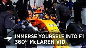 McLaren ve Alonso'nun aracından 360 derece görüntü