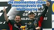 Os momentos mais memoráveis do GP de Melbourne