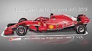 Comparación entre el Ferrari de Fórmula 1 2018 y el de 2017 ESP