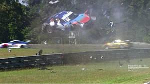 Piloto Edu Azevedo capota dez vezes e voa sobre guard rail