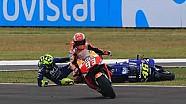 Senggolan Marc Marquez vs Valentino Rossi | MotoGP Argentina 2018