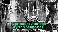 A primeira vitória de Ayrton Senna na F1
