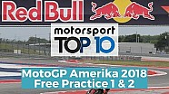 Top 10 Highlights Free Practice | MotoGP Amerika 2018
