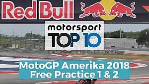 Top 10 Highlights Free Practice   MotoGP Amerika 2018