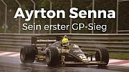 Der 1. Sieg von Ayrton Senna
