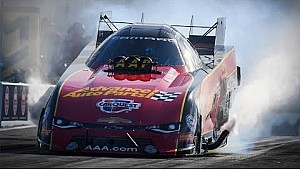 Courtney Force ran a 332.92mph pass on Friday qualifying to hold the top spot in Charlotte