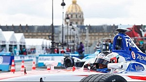 Podium celebrations & race analysis - Paris E-Prix