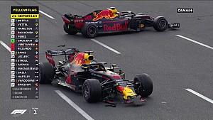 L'accrochage entre les deux Red Bull à Bakou