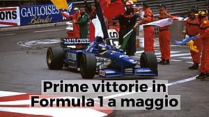 Prime vittorie in Formula 1 a maggio