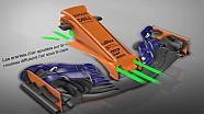 Le nouveau nez de la McLaren MCL33 à Barcelone