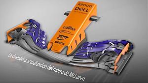 La gran actualización del morro de McLaren en España