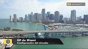 El circuito del GP de Miami de F1, a vista de dron ESP