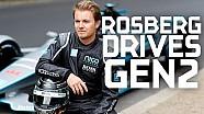 Rosberg yeni jenerasyon Formula E aracını ilk kez sürüyor